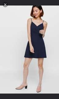 Love bonito perzie crossover mini dress in navy