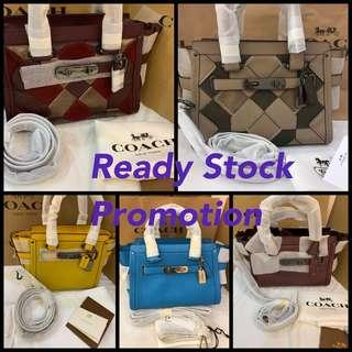 (CNY Sales)Authentic coach swagger mini handbag ready stock for sales