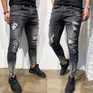 🚚 Ripped Jeans biker jeans all black