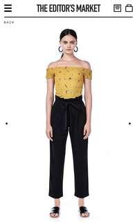 The Editor's Market Siana Floral Crop Top