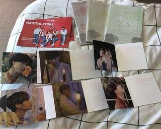 GOT7 albums and lyric cards