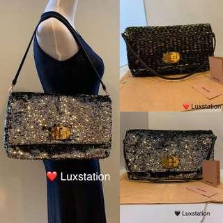 Miu Miu Large 2Way Reversible Black Multicolour   Metallic Silver Large  Maxi Clutch Bag 🖤 e66327bc998ac