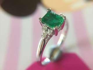 💚❇️✨ 天然綠寶石鑽石戒指 ✨❇️💚