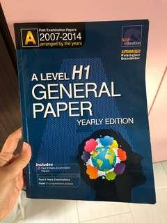 A level H1 General Paper TYS (2007-2014)