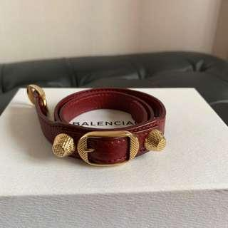 Balenciaga giant gold double tour bracelet