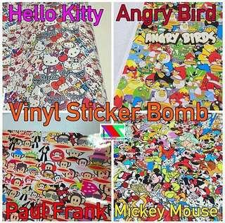 Sticker bombs vinyl stickers wrap