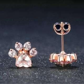 🚚 Paw Rose Gold/Silver Earrings