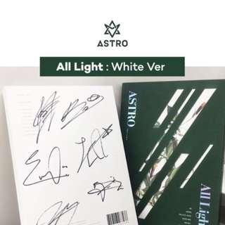 "[MWAVE SIGNED] ASTRO 1ST ALBUM ""All Light"""