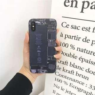 🚚 ☆Superme本舖☆Apple iPhone6 6s plus 創意 拆卸內部零件蘋果 創意模擬電池手機 軟殼