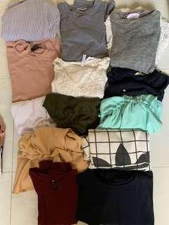 Bundle of clothes - long sleeve and blouse