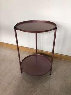 In-stock! Mauve-pink 2 tier table