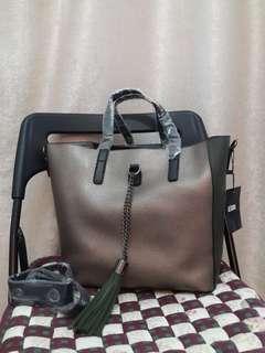 Green Brown Hand bag