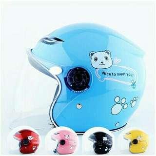 Helmet kanak kanak open face