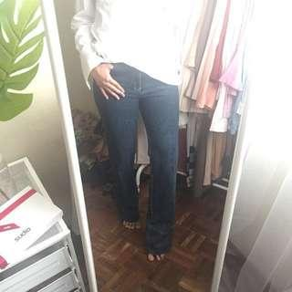 Girls Straight cut Embroidered Jeans