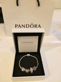 SALE!ORIGINAL PANDORA BRACELET AND CHARMS