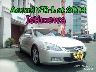 Honda Accord VTi-L at 2012, Tdp.35 Juta Negooo, KM Low 85 Rb Record ##