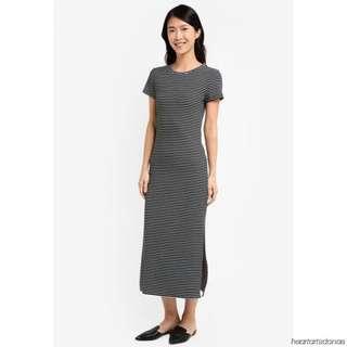 Zalora Stripe Knit T Shirt Dress