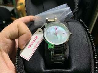 MVMT Women Watch Silver Pearl with pink hand