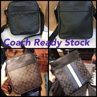 (CNY Sales)Authentic Coach men sling bag crossbody bag chest bag ready stock