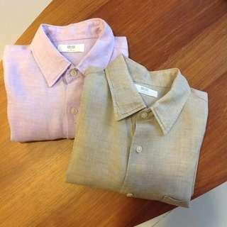 Uniqlo Long Sleeve Linen Shirt