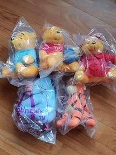 McDonald's Winnie the Pooh collection 1995