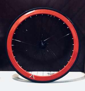40MM Rim Red Hot Bicycle Front Wheel