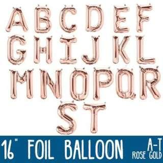 🌟 16 inches Rose Foil Balloon (A to Z) (0 - 9) 🌟