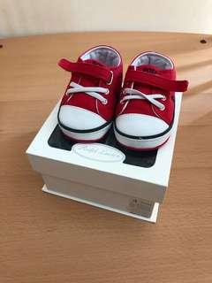 Baby Shoes (size 4) red canvas