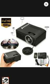 Full HD 1080p input multimedia home theater Led mini projector cinema tv