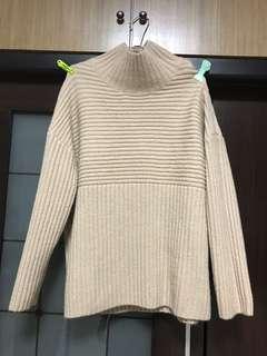 🚚 淺褐坑條毛衣