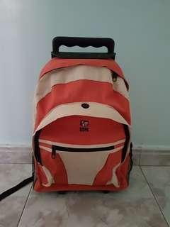 USPA 2 in 1 Backpack + Trolley Bag