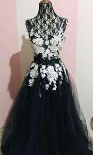 Long Black Backless Gown (Rent)