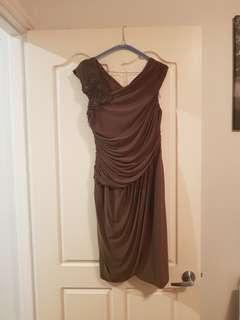 Liz Jordan khaki dress