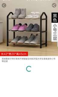 Shoe Rack - Black and light, easily portable. Brand new