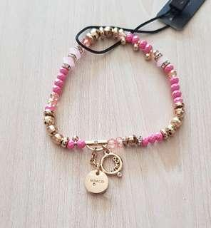 BNWT Mimco pink and gold bracelet