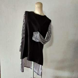 Blouse Stripe Garis