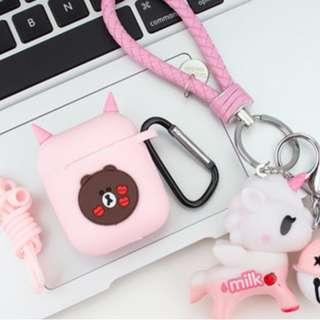 Pink Bear Airpods Case
