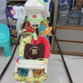 Fisher-Price 2-in-1 Deluxe Cradle n Swing with different sound and music