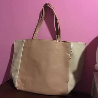 🚚 贈送!粉色白色夾雜可愛托特包
