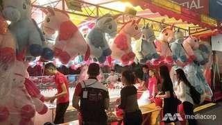 🚚 Giant Unicorn Plush Toy from Prudential Carnival