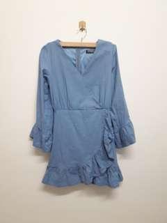 Grey Blue Premium Quality Dress