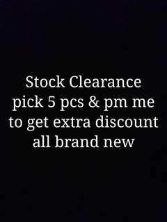 Stock Clearance Sales