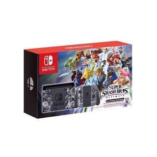 Nintendo Switch bundled with Super smash bros games