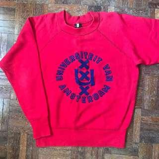 Vintage University Of Amstersdam Sweatshirt Size S