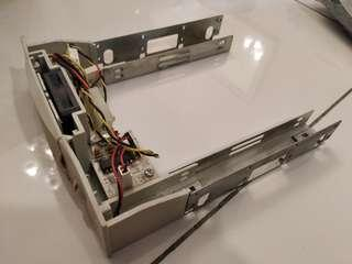 PC Hard disk mount with cooling fan