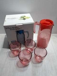 5pcs Glass Drinking Set