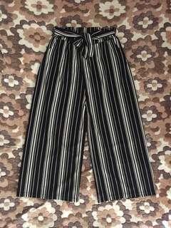 Black and White Striped Culottes