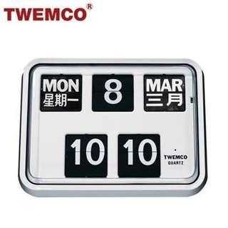 Brand new twemco Mechanical flip Clock