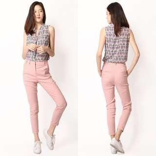 (S) AFA STANS CUFF PANTS IN DUSTY PINK