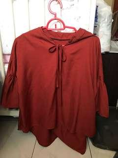 Blouse Brown-Red top
